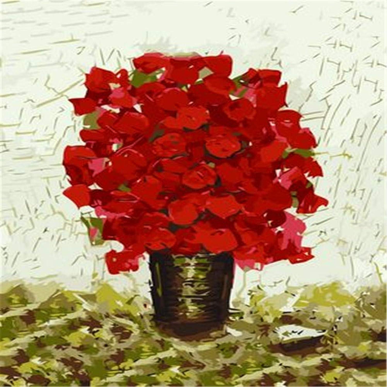 liquidación hasta el 70% HABU Auto-Completo Pintura Digital Sin Marco Decoración de la Familia Familia Familia Pintura Flor Número 40  50Cm Pintura Materias Primas  lo último