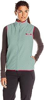 Columbia Sportswear Women's Harborside Fleece Vest, Dusty Green Heather/Red Camellia, Large