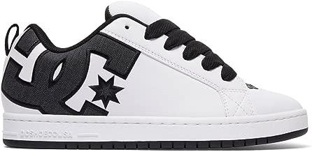 DC Men's Court Graffik SE Skate Shoe,White/Charcoal,18 D US