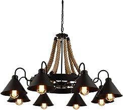 Ceiling Lighting, Vintage Industrial Chandelier, Retro Ceiling Pendant Lamp Fixture, for Dining Hall Restaurant Bar Cafe L...