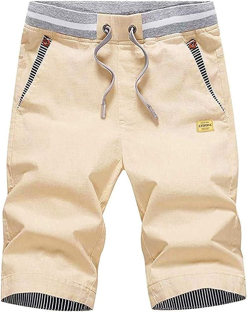 LTIFONE Mens Shorts Casual Regular Fit 9