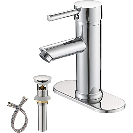 Aquasource Grabill Chrome 1 Handle Single Hole Watersense Labeled Bathroom Sink Faucet Drain Included Amazon Com