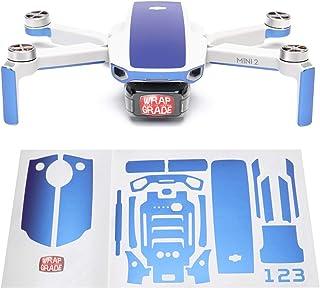 Wrapgrade Skin kompatibel med DJI Mini 2 | Accentfärg (CELESTE BLUE)
