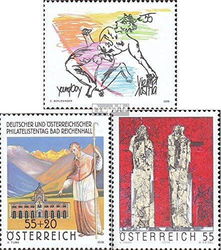 Prophila Collection Österreich 2619,2620,2621 (kompl.Ausg.) 2006 Aktgemälde, Philatelie, Kunst (Briefmarken für Sammler) Malerei