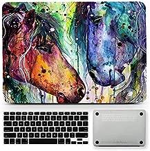 Bizcustom Animal Horse Artwork Hard Rubberized Case Cover for MacBook Pro 13, New A2251/A2289/A2159/A1706/A1708/A1989 w/o Touch Bar Retina Display 2016/2017/2018/2019/2020