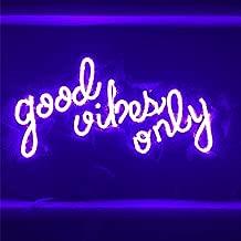 LiQi Good Vibes ONLY Purple Neon Sign (13