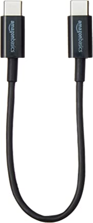 AmazonBasics USB Type-C to USB Type-C 2.0 Cable - 6 Inches (15.2 Centimeters) - Black