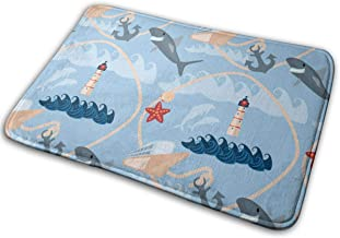Door Mats Sea Floor Mat Indoor Outdoor Entrance Bathroom Doormat Non Slip Washable Welcome Mats Decor 23.6 x 15.7 inch