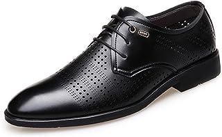 HCP-MX Zapatos de Cordones para Hombres, de Cuero Genuino, Transpirables, Perforados, con Forro Superior, Oxfords