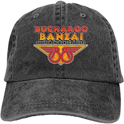 NA Buckaroo Banzai Baseballkappe für Herren und Damen, Vintage-Stil, verstellbar, Schwarz