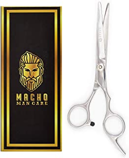 "Premium Beard Scissors For Men - Professional Barber 6.8"" Sharp Mustache Scissors - Razor Edge Beard Trimming scissors for Grooming and Trimming - Stainless Steel Nose & Facial Hair Cutting Scissors"