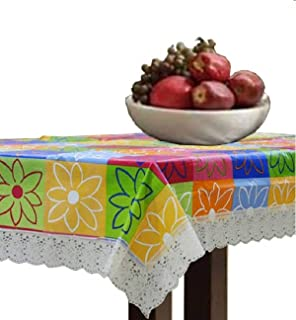 KUBER INDUSTRIES Multi Checkered Waterproof Dining Table Cover 6 Seater (60 X 90 inches), standard
