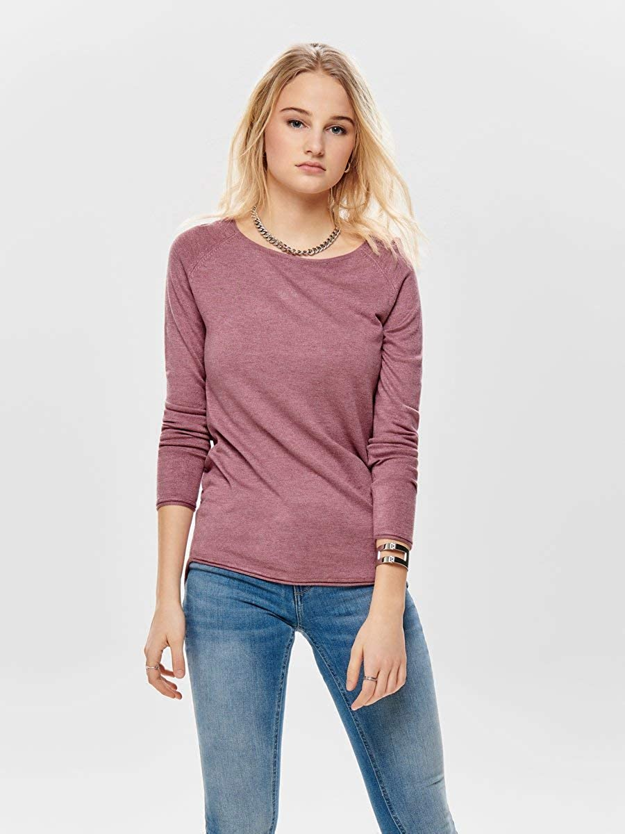 Only Onlmila Lacy L//S Long Pullover Knt Noos Felpa Donna