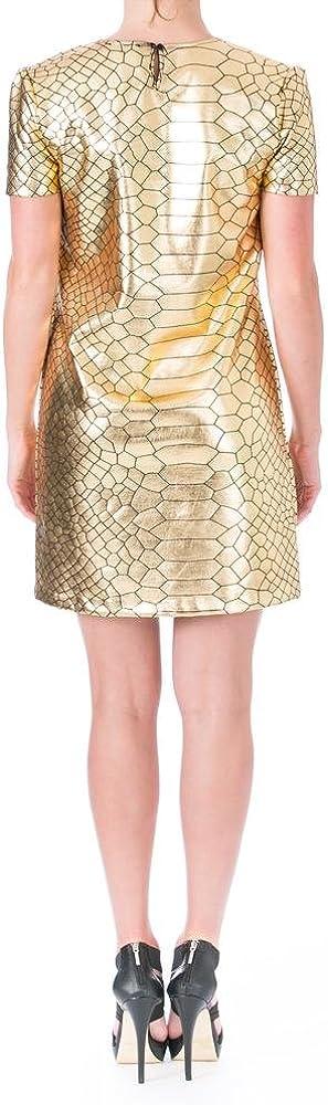 Charles Henry Women's Metallic Gold Kehole-Back Club Dress Shift SZ 6 New