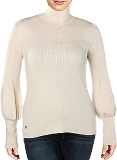 LAUREN RALPH LAUREN Womens Ribbed Puff Sleeve Turtleneck Sweater