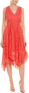 Women's Sleeveless Hankerchief Hem Lace Dress