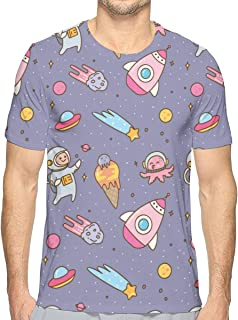 Reindeer Background Short Sleeve Tee Novelty Teen Unisex T Shirt