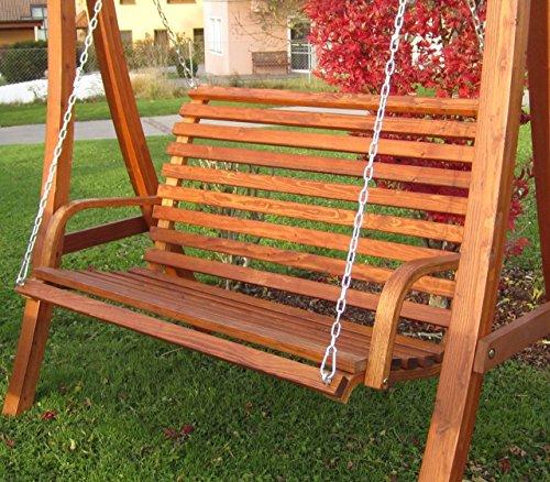 Design Bank aus Holz Lärche für Hollywoodschaukel 2-Sitzer KUREDO (ohne GESTELL!!!) von AS-S - 5