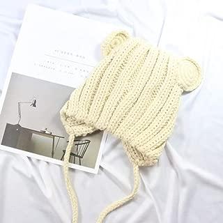 XiaJ Reliable Children Hat Toddler Kids Baby Warm Winter Wool Hat Knit Beanie Hat Baby Boys Girls Earmuffs Cap(None BG)