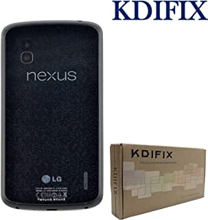 KDIFIX Back Cover Battery Door Housing Case Replacement- for LG Google Nexus 4 E960 (Black)