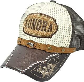 Rob'sTees Gorra Charra Sonora Woven Mexico Flag States Palma Mesh Straw Trucker Adjustable Cap Dad Hat