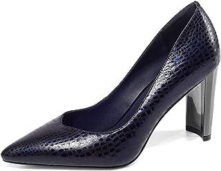 [チカル] レディース パンプス ハイヒール パンプス シューズ モカシン 手造り 靴 美脚 8cm ヒール 牛革 レザー 本革 オフィス カジュアル OL 通勤 結婚式 パーティー 婦人靴 歩きやすい 大きいサイズ
