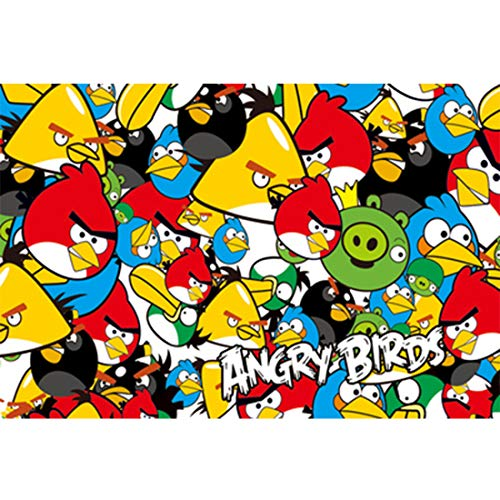 Puzzel 500/1000 Pieces Angry Birds Family Portrait Kartonnen puzzels educatieve spelletjes Vaderdag,500PCS