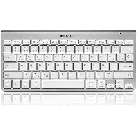 SUBBLIM Keyboard Pure Compact, Plata (SUB-KB-2PUC100)