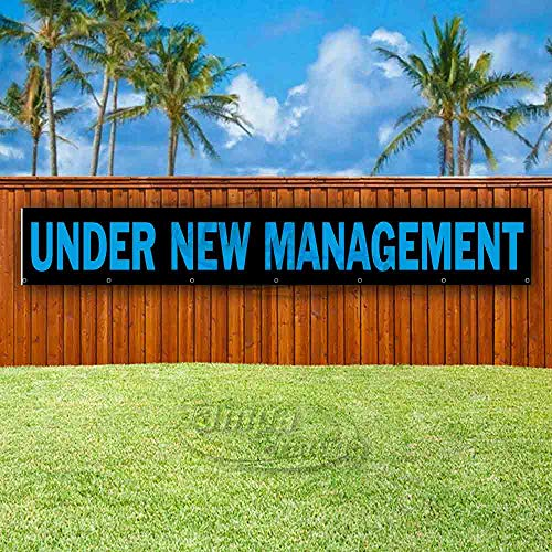 Under New Management Extra Large 13 oz Heavy Duty Vinyl Banner Sign with Metal Grommets, New, Store, Advertising, Flag, (Many Sizes Available)