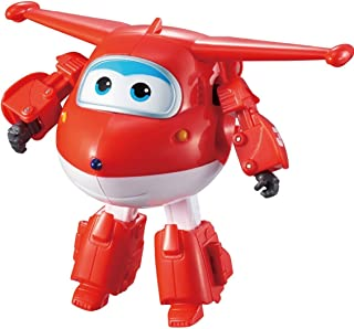 "Super Wings - Transforming Jett Toy Figure, Plane, Bot, 5"" Scale, Red"