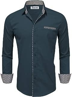 TAM WARE Mens Inner Layered Long Sleeve Dress Shirt