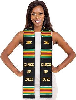 Class of 2021 Premium Handwoven Kente Cloth Graduation Stole