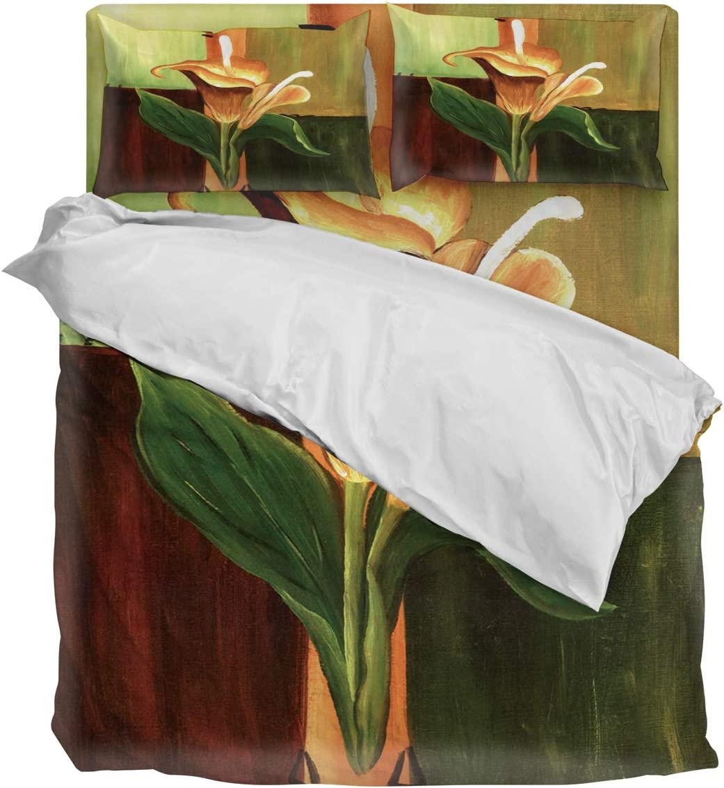 Three El Paso Mall Sunflower 4 Piece Duvet All stores are sold Cover Set King Calla Bedding Size