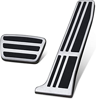 A Set of 3 JessicaAlba Non-Slip Performance Foot Pedal Pads,Auto Aluminum Pedal Covers for Tesla Model 3