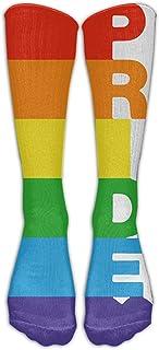Orgullo Gay Rainbow Bisexual Athletic Tube Medias Mujeres 's Hombres' s Clásicos Hasta la rodilla Calcetines deportivos Calcetín largo Talla única
