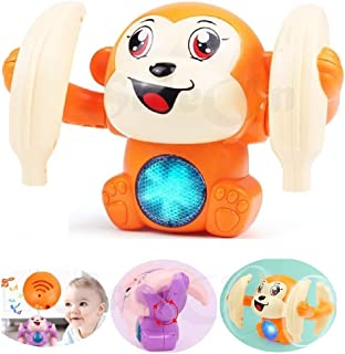SaleOn Dancing and Spinning Rolling Doll Tumble Monkey Toy Voice Control Banana Monkey with Musical Toy with Light and Sou...