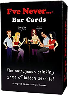 I've Never Bar Cards: Party Game for College Students Fraternities Sororities Bachelor Bachelorette 21st Birthday Parties