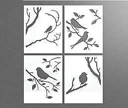 Pannelli decorativi Uccelli Rami Autunno - Decorazione Arredo Casa Parete Muro