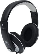 Mobile Spec MS50BKW Chords Series Black/White Stereo Headphones with in-Line Microphone