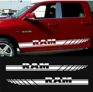 For DODGE RAM 1500 2500 3500 2X Racing Stripes graphics quality vinyl body decal sticker logo car styling