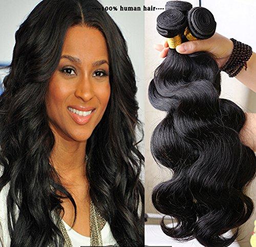 Romantic Angels® Tissage Brésilien en Lot Extension Cheveux Naturels 3 Bundles (22 22 22)