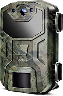 Victure Trail Game Camera 16MP Night Vision Motion Activated with Upgrade Waterproof Design 1080P Hunting Camera No Glow f...