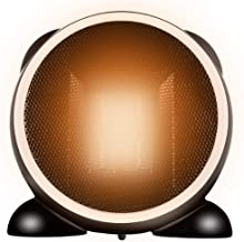 LLDKA Calefactor Ceramico Bajo Consumo, Portatil Calefactor Enchufe Termostato, Calefactor De Aire Caliente Furgoneta,Negro