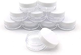 Yowein 100PC 15g Glass Jars with Lids Small Spice Jars Glass with Black Lids Mini glass jars Clear Lotion Cosmetic body bu...