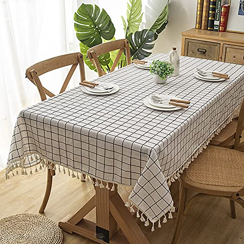 CYYyang Baumwolle und Leinen Tischtuch Couchtisch Tischdecke Küchentisch Abdeckung für Speisetisch Moderne und einfache Baumwolle und Leinen klein und frisch