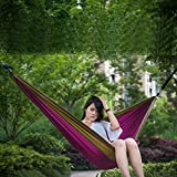HMLifestyle- Camping Hammock with Mosquito Netting Outdoor Hammock Travel Bed Lightweight Double 2 Person Hammock Tent with Tree Strap,Size:240X140Cm