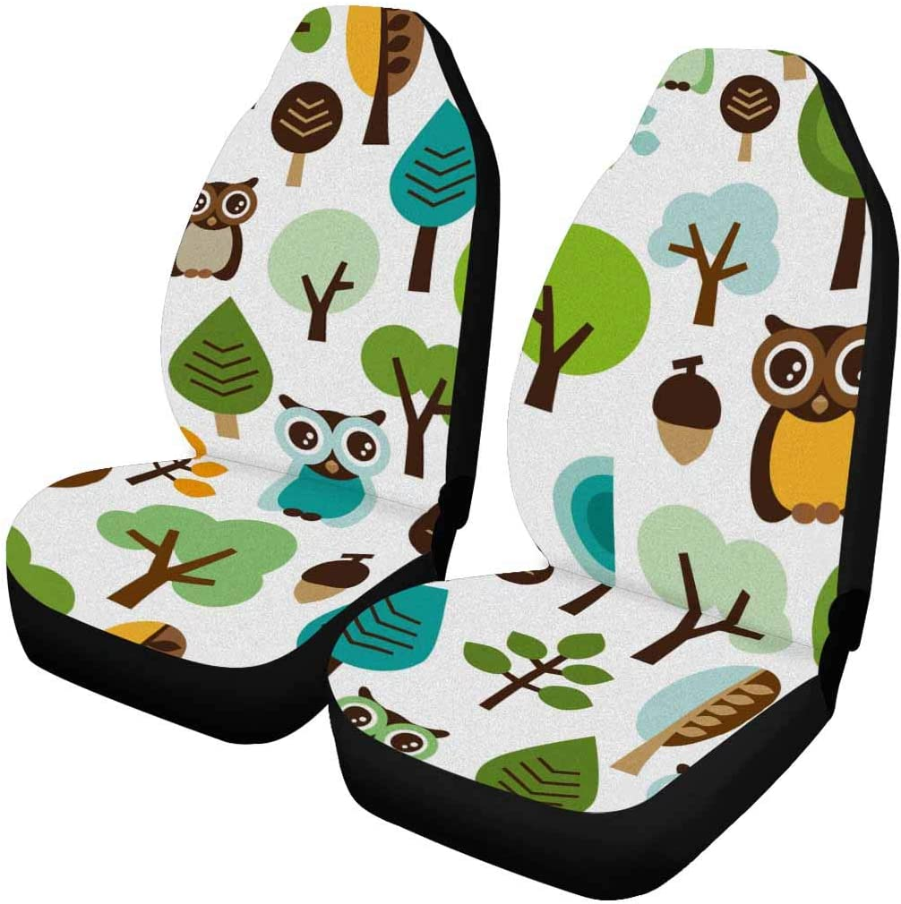 InterestPrint Front Car Seat Covers Piece San Francisco Mall shopping Different with Each Pr