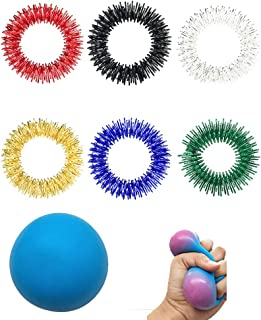 YEKKU Juguetes sensoriales Fidget, Anillo de Masaje Bola de Alivio del estrés Juguete para apretar para Adultos y niños Bo...