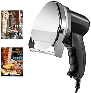 Fayelong Electric Kebab Meat Slicer 100mm Blade Electric Kebab Knife 80W Electric Meat Slicer Shaver 2800RPM with 2 Blades...