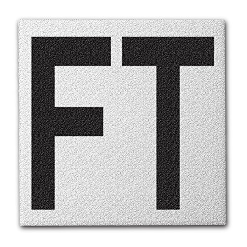 Aquatic Custom Tile Ceramic Swimming Pool Deck Depth Marker FT Abrasive Non-Slip Finish, 5 inch Font